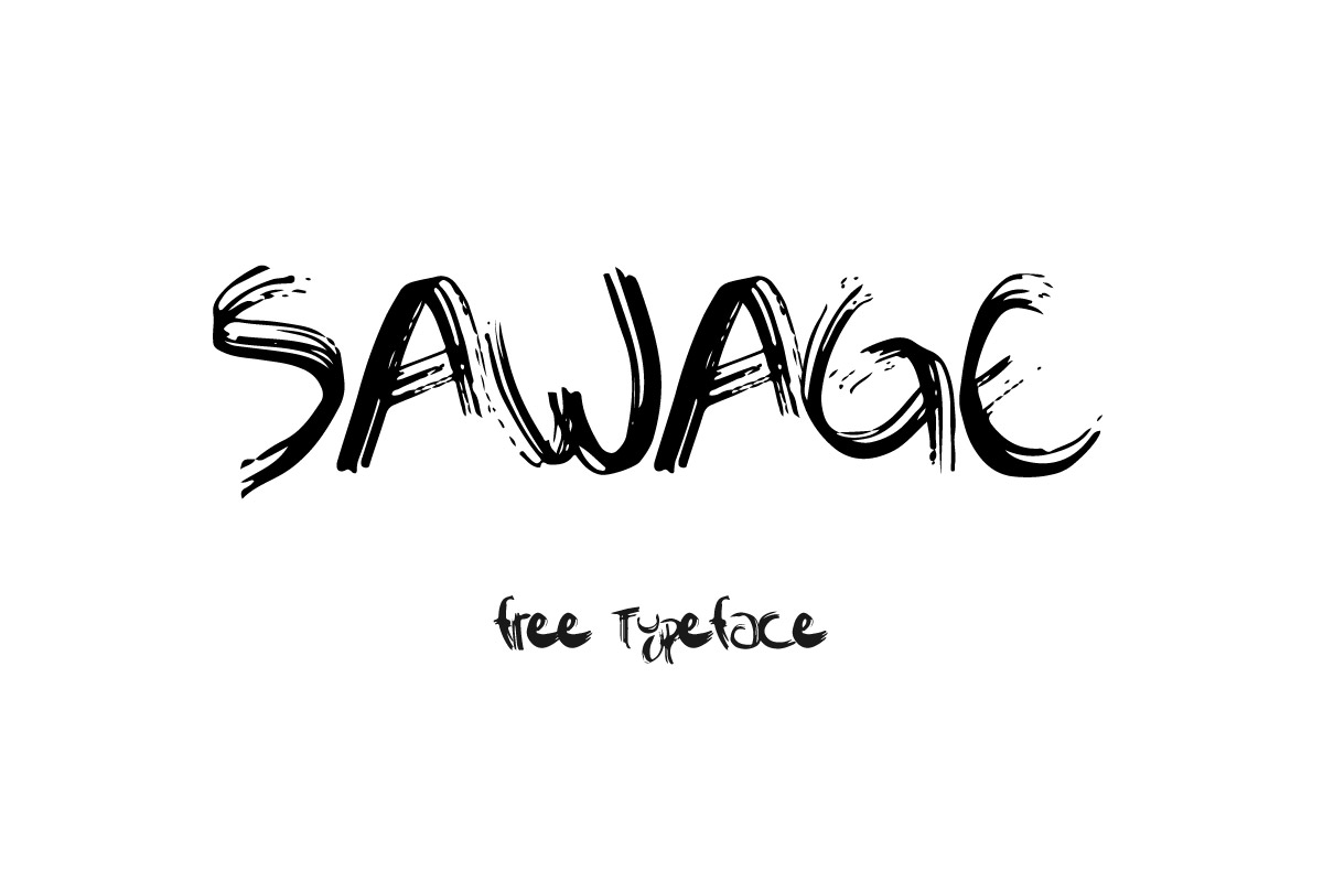 Free Sawage Brush Font