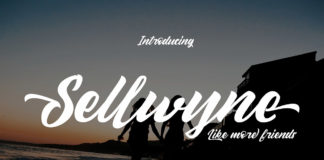 Free Sellwyne Script Font