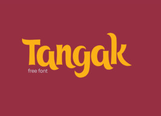 Free Tangak Display Font