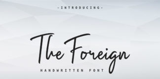 Free The Foreign Handwritten Font