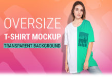 Free Woman Oversize T-Shirt Mockup Set