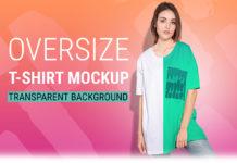 Free Woman Oversize T-Shirt Mockup Set