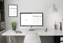 4K UHD February 2019 Wallpaper Calendar For Desktop Background