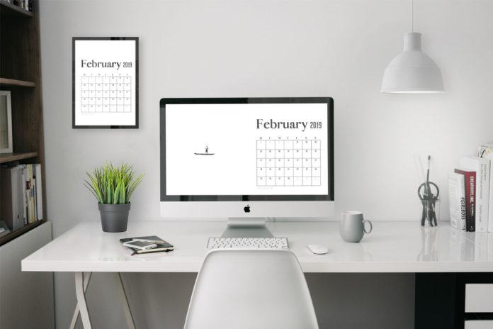 4k uhd february 2019 wallpaper calendar for desktop background