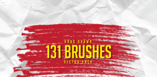 Free 131 Hand Drawn Brushes Pack