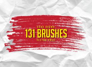 Free 131 Hand Drawn Brushes Pack