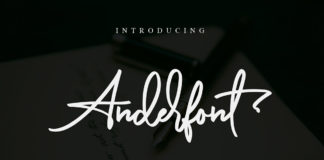 Free Anderfont Signature Font