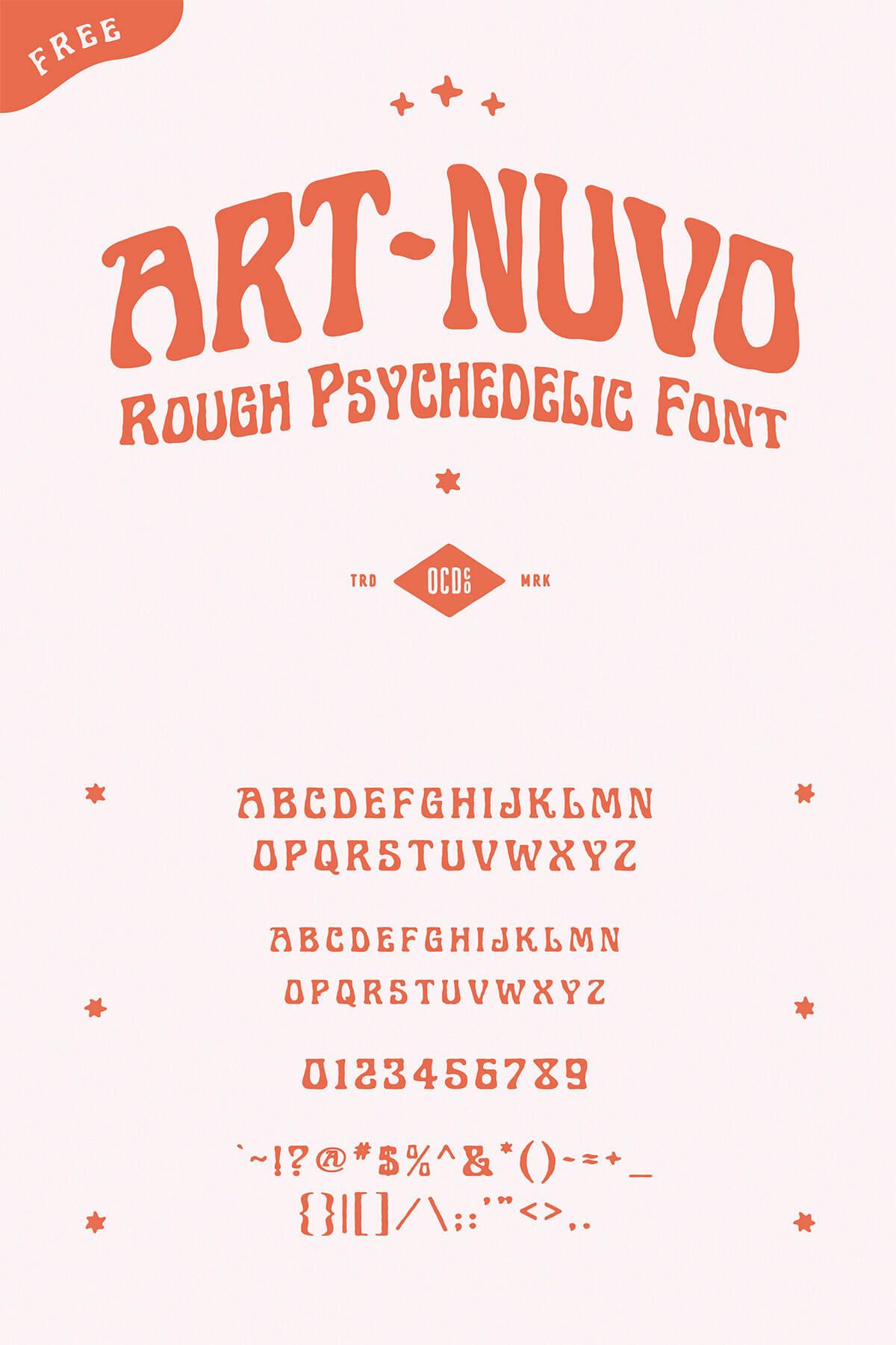 Free Art Nuvo Handmade Font