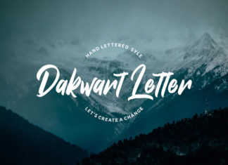 Free Dakwart Letter Display Font