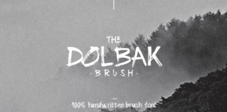 Free Dolbak Brush Handwritten Font