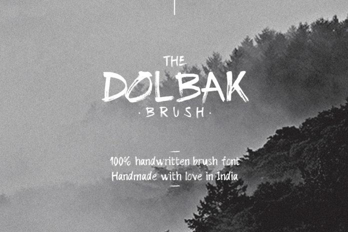 Free Dolbak Brush Handwritten Font