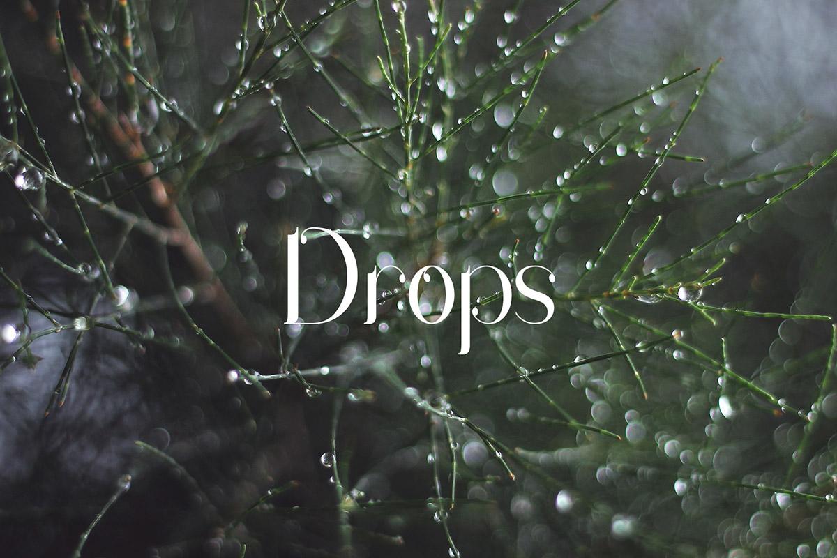 Free Drops Serif Font