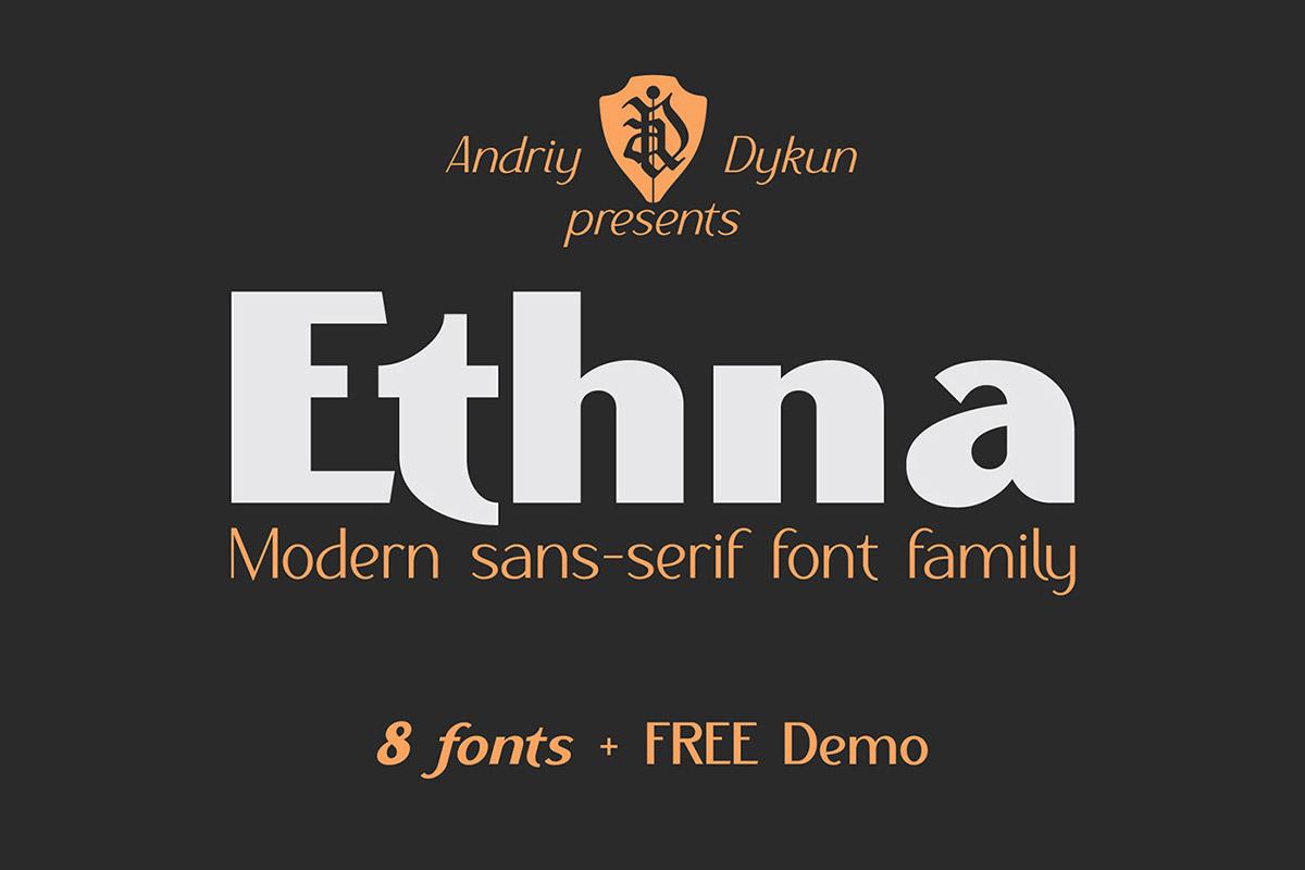 Free Ethna Sans Serif Font