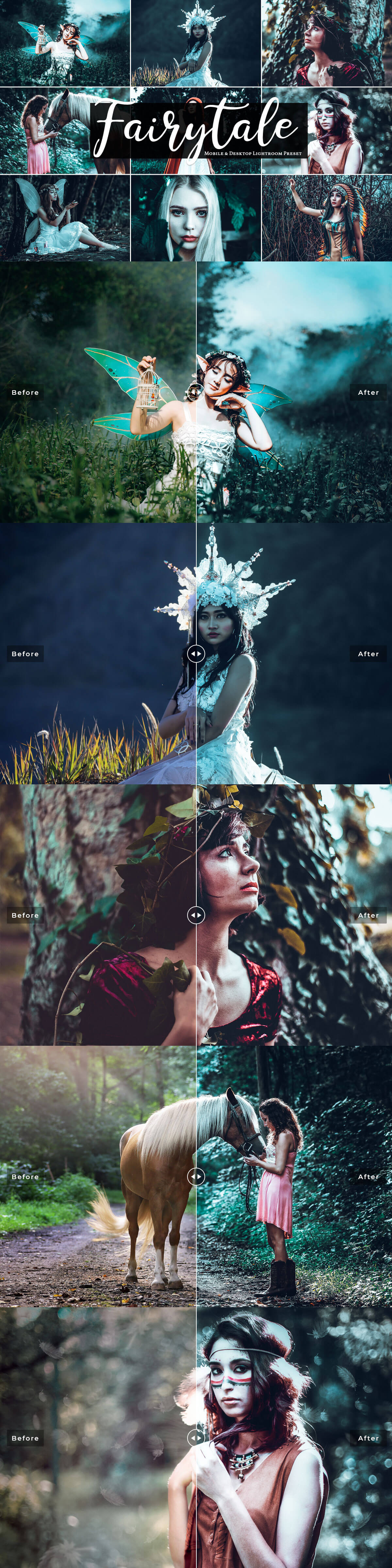 Free Fairytale Mobile & Desktop Lightroom Presets Cover