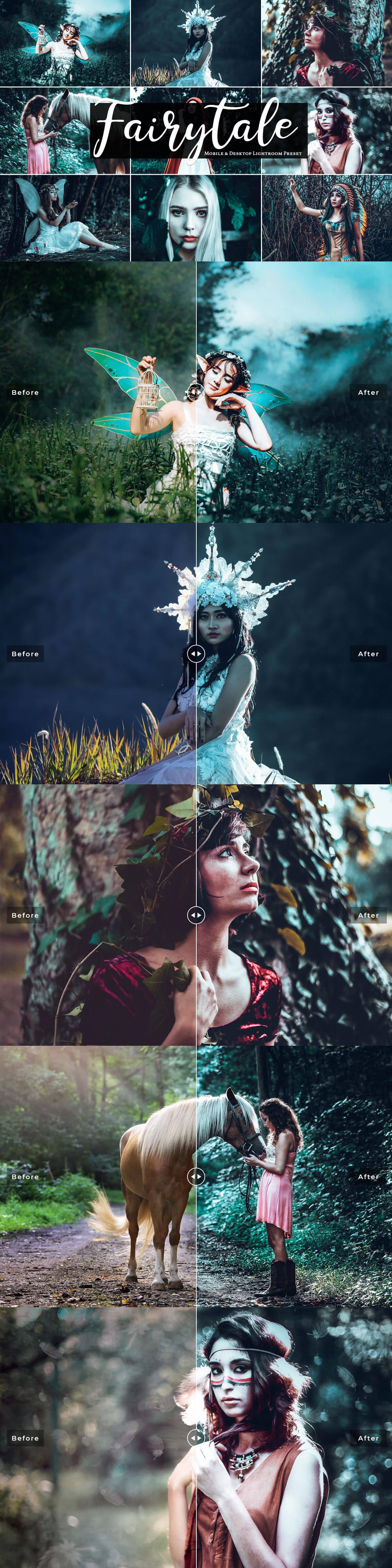 Free Fairytale Mobile & Desktop Lightroom Presets Cover