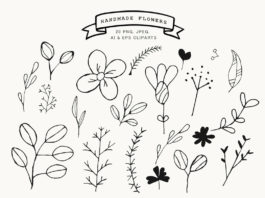Free Handmade Flowers Cliparts