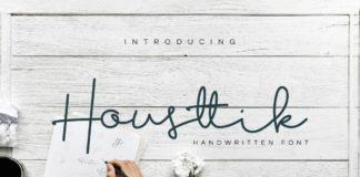 Free Housttik Handwritten Font
