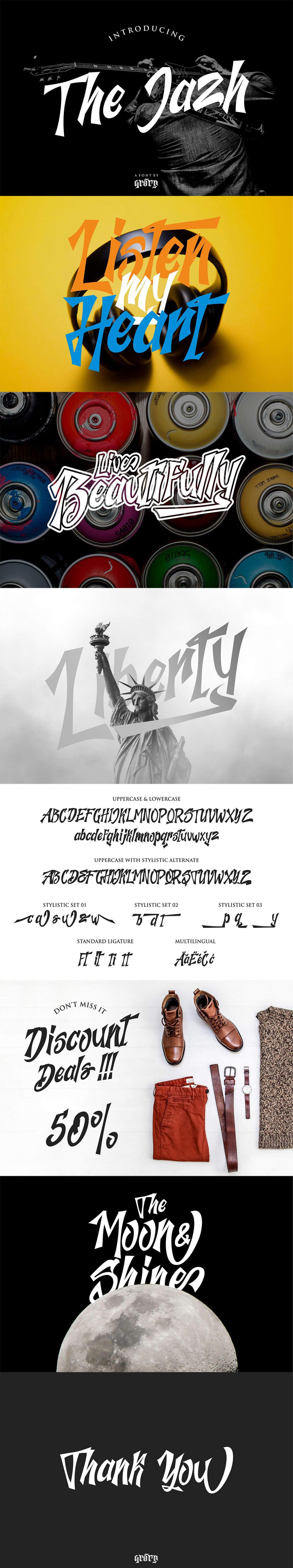 Free Jazh Handwritten Script Font