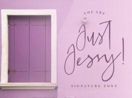 Free Just Jessy Signature Font