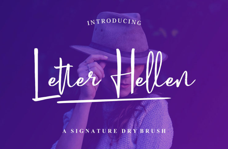 Free Letter Hellen Signature Dry Brush Font