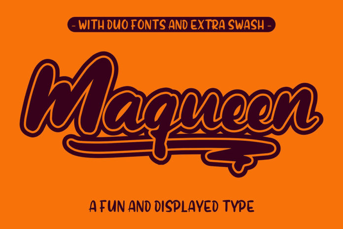 Free Maqueen Round Display Font Duo