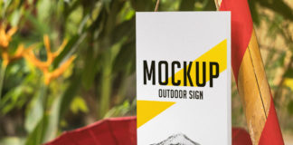 Free Outdoor Sign Mockup