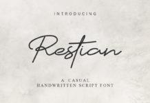 Free Restian Handwritten Script Font