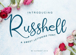Free Russhell Script Calligraphy Font