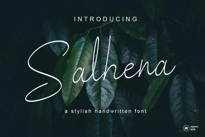Free Salhena Handwritten Font