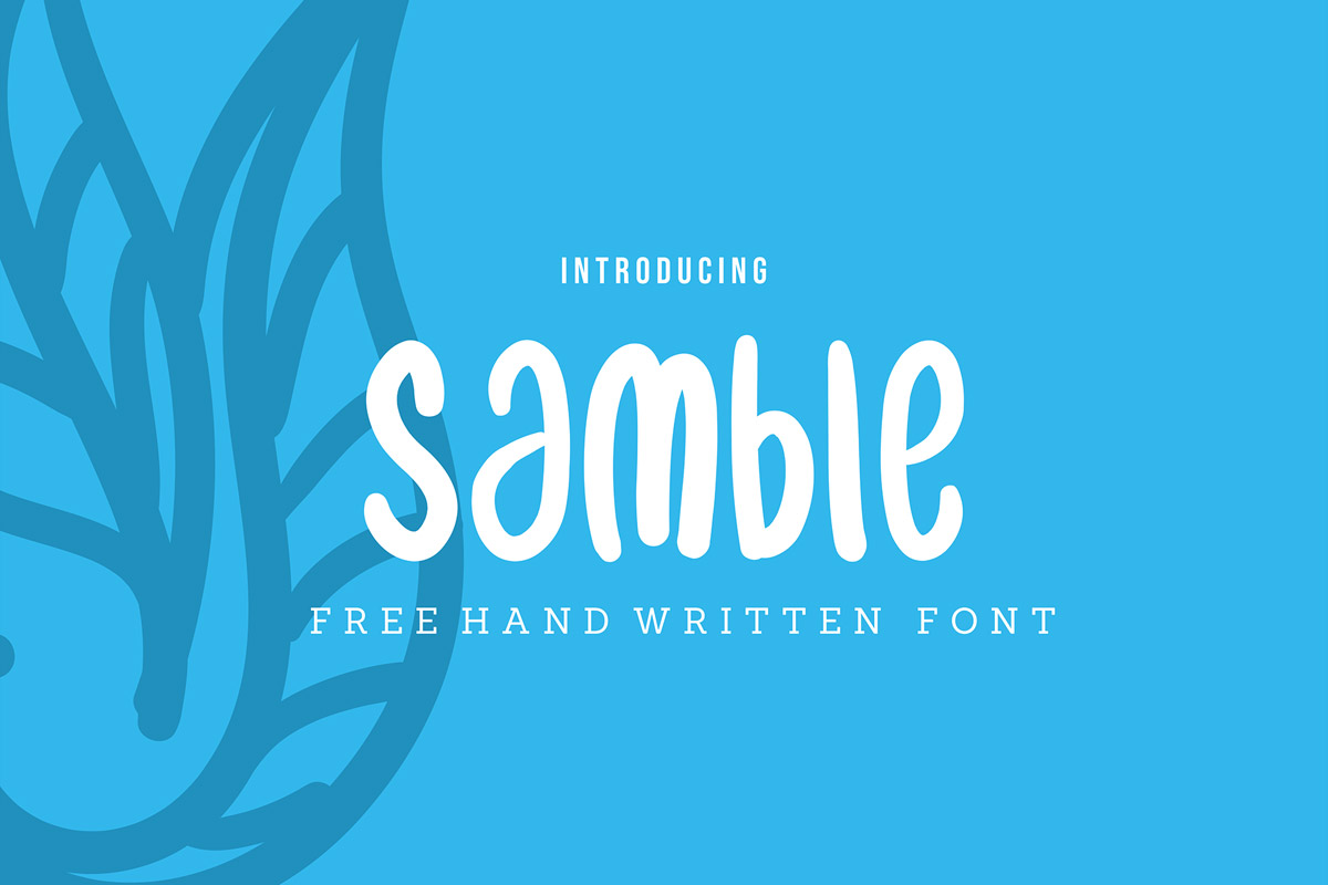 Free Samble Handwritten Font
