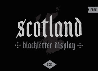 Free Scotland Blackletter Display Font