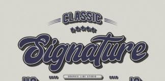 Free Signature Font Trio