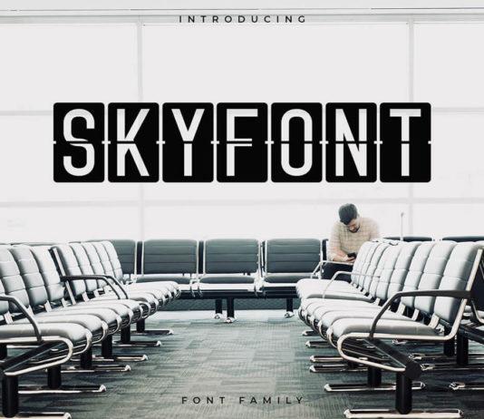 Free Skyfont Sans Serif Font
