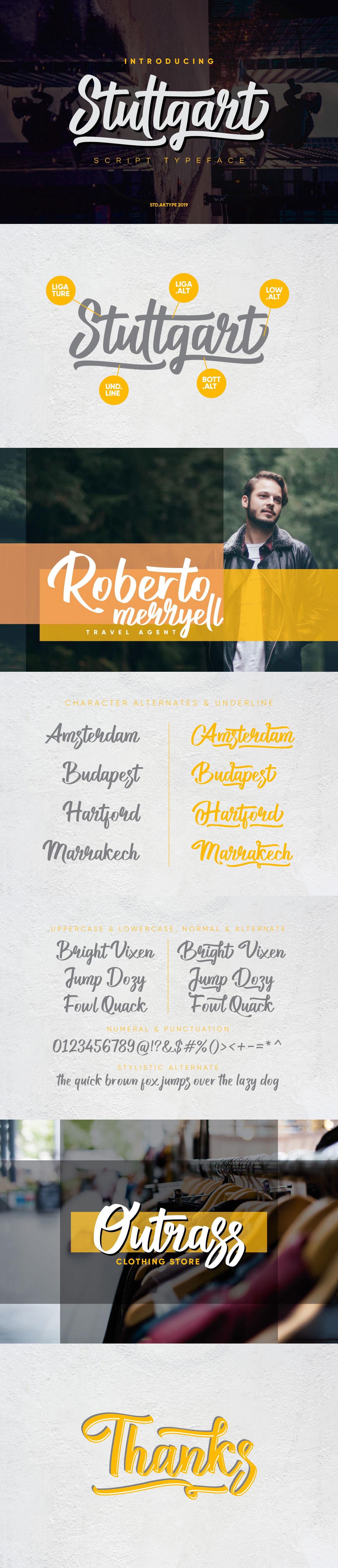 Free Stuttgart Script Font