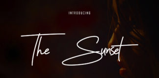 Free Sunset Signature Font