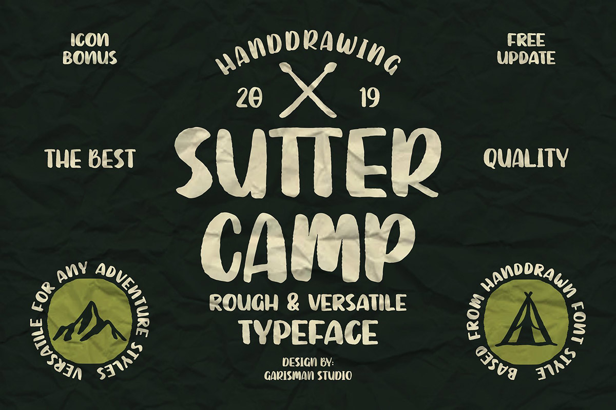 Free Sutter Camp Adventure Display Font