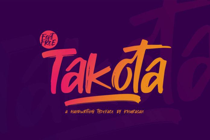 Free Takota Handwritten Brush Font