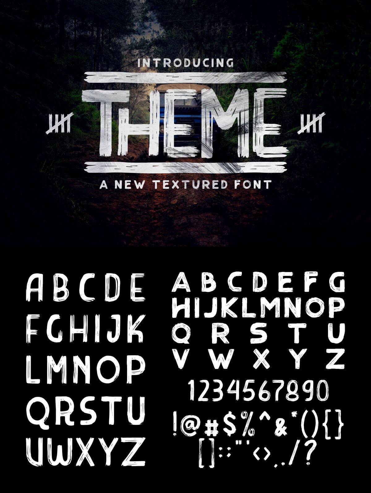 Free Theme Textured Font Creativetacos