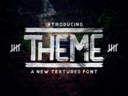 Free Theme Textured Font