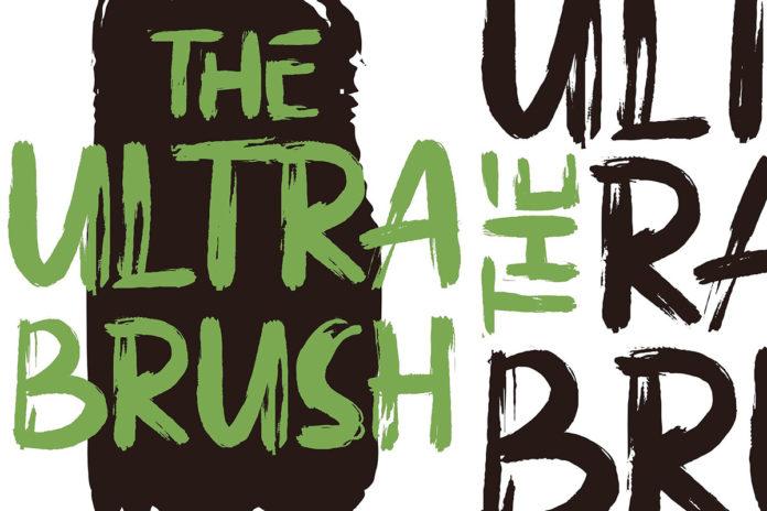 Free Ultra Brush Font