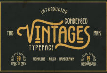 Free Vintages Display Font