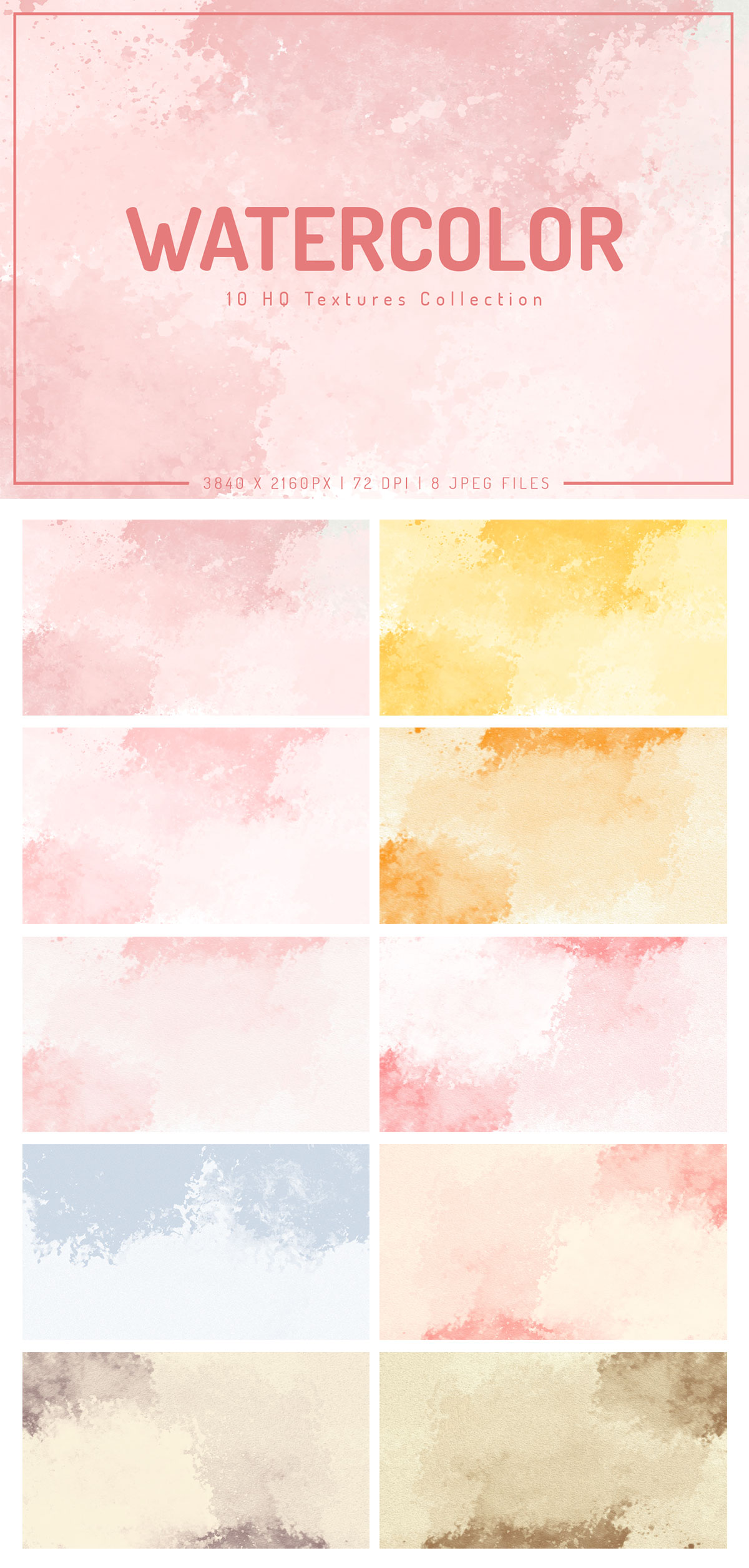 Free Watercolor Textures Collection 2019