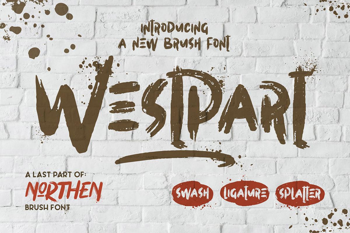 Free Westpart Brush Font