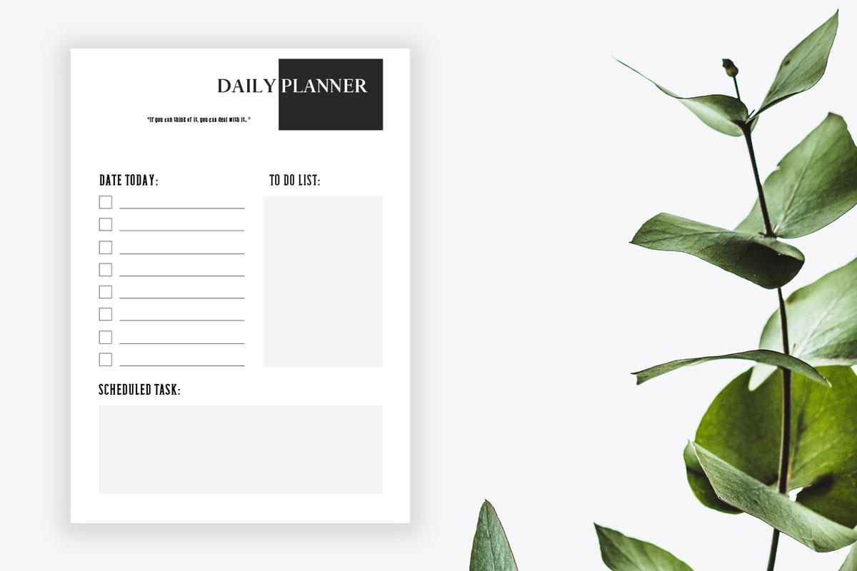 Minimalist Daily Planner Printable Vol.1