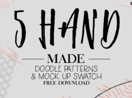 5 Free Handmade Doodle Patterns