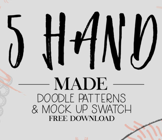 5 Free Handmade Doodle Patterns