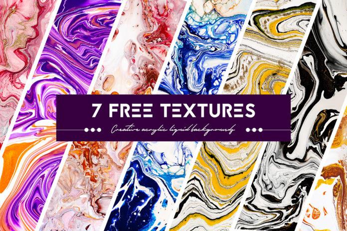 Free Acrylic Liquid Paints Textures