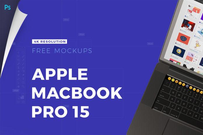 Free Apple Macbook Pro 15 Mockups