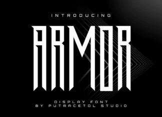 Free Armor Display Font