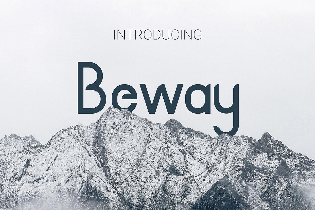 Free Beway Sans Serif Font Family